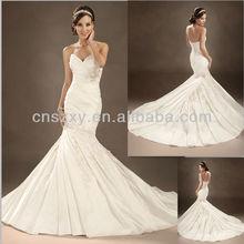 Mermaid Bride Wedding Dresses Pleated --- AA008