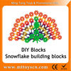 118pcs Snowflakes shape Intelligence Toys For Children Plastic Building Blocks