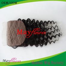 Virgin Brazilian Hair Natural Look Silk Base Closure Body Wave Free Part Natural Hair Pieces