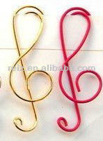 Musical note paper clip