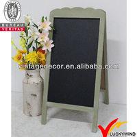 Double side standing wooden blackboard for bar use