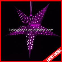 purple color christmas star lantern for wholesale