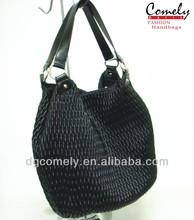 Comely handbag 2015 bags handbags black knitted print hobo bag for women women bags
