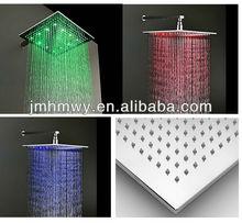 led color change shower head 300*300mm brass chrome