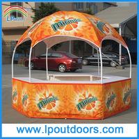 Dia 3m hexagon dome trade show exhibition stall