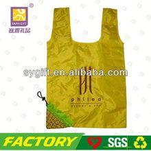 Printed foldable reusable shopping bags flower shape bag