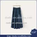 2015 novo fornecedor de dongguan alta qualidade popular longa saias jeans