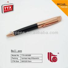 Logo OEM gold pen,new style ballpoint pen
