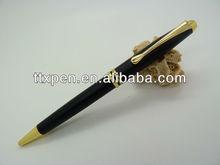 Matte barrel pen with gold spare parts