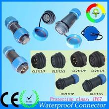 2/3/4/5/6/7/8/9/12pin LED ip68 waterproof connector