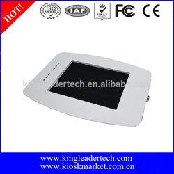 Super compact white security metal kiosk enclosure case for ipad mini