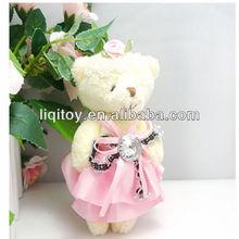 Cute plush bear pendant toy