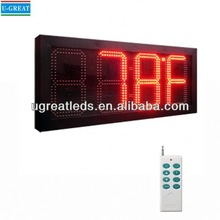 Aliexpress new product hanging RF control digital clock thermometer outdoor