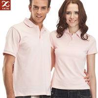 OEM design plain t shirt couple polo shirt China export clothes