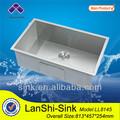 Ll8145 chinês calibre pesado 304 direito angular de cozinha de aço inoxidável afundar