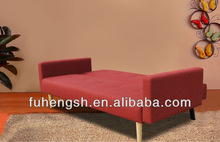 High Quality Modern Fabric red 3 seater Sofa bed with arms