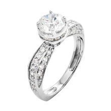 Heart And Arrow Micro pave setting 2014 latest 925 sterling silver wedding ring designs