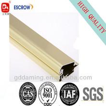 golden anodized 6063 aluminium extrusion profile