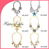 2014 fashion design hot slae flower shape statement necklace