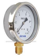 2.5''bourdon tube pressure gauge manometer