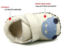 new model China manufacture newborn cow leather baby shoe