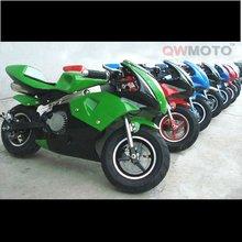 CE 2 stroke gas/gasoline mini moto/49cc mini moto/minimoto/49cc pocket bike motorcycle for kids with Easy pull start(QW-MPB-04A)