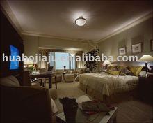 Bedroom set Malaysia rubber wood cherry veneer MDF HB-4659