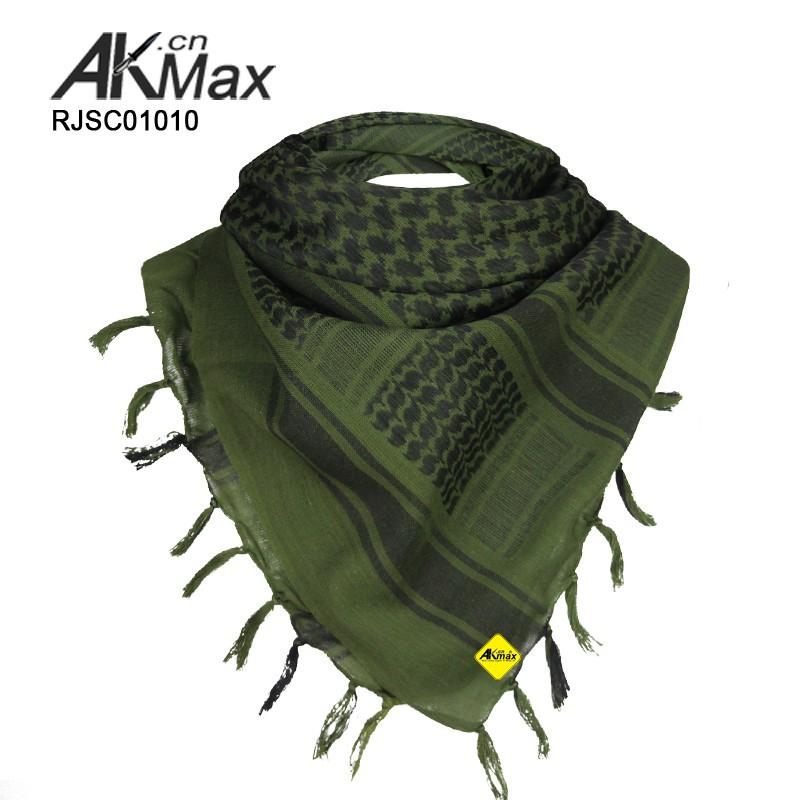 Oliva algodão shemagh/cachecol militar