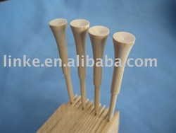 all sizes and colorful wooden golf tees with FSC certificated