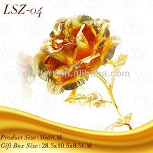 24K Gold foil Gold Rose Flower Valentine gift