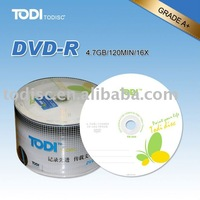 wholesale blank dvd in bulk 4.7GB/120MIN /16x/8x running speed in bulk on sale