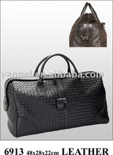 2015 leather bag,briefcase, men leather bag_travel bag_lambskin woven luagge