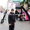 J1A-204 Door to door service human black high brightness billboard backpack billboard with rechargeable battery