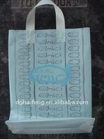 Loop handle plastic carrier bag