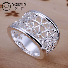 Hot sale hollow out men style copper nickel free rings jewelry