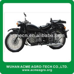 3 wheel green Classic sidecar motorcycle