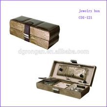 Custom unique textured leather jewelry gift box C01-121