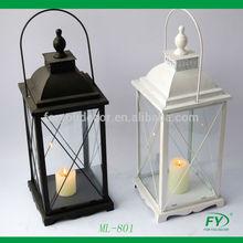 Best seller black and white Metal lantern, W antic finish ML-801