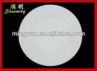 White melamine round plate