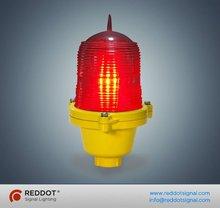 Single aviation obstruction light/low intensity LED telecom tower beacon