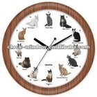 Cat Sounds Chime Gift Wall Clock