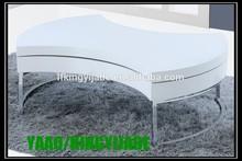 Modern high quality high gloss oval storage coffee table