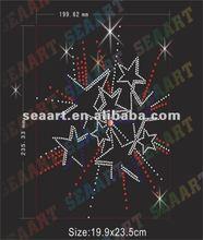 2012 new design! colorful rhinestone star