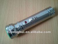 2D size batteries led metal flashlight chrome flashlight