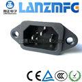 LZ-14-1 الطاقة IEC C14 المقبس مع غطاء غطاء للماء ضد الغبار