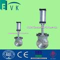 De acero al carbono/de acero inoxidable cuchillo neumático válvula de compuerta