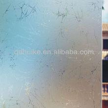 5mm ice crack acid etched decorative interior door glass