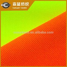 100 polyester fluorescent yellow / orange mesh fabric