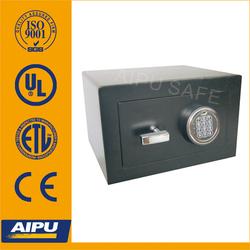 European quality Home & Office safes F220-E/ single wall / fire proof / Lazer cut door / Electronic / Black .