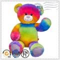 fuente de la fábrica de encargo de venta caliente de la felpa del arco iris de juguete del oso de peluche de juguete